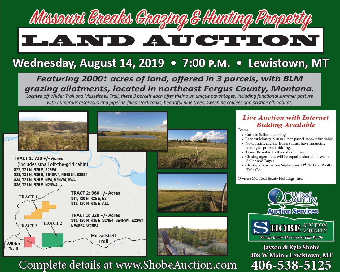 Auction - Missouri Breaks Grazing & Hunting Property | Montana Land