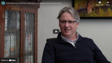 Andy Rahn featured on Montana Business Vlog