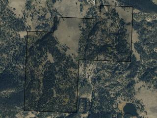 Map of Braziel Creek: 400.84 acres SE of Helmville