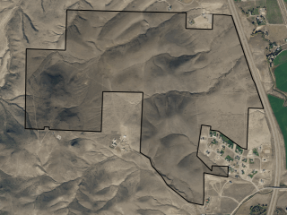Map of Clark's Lookout Ranch: 663 acres NW of Dillon