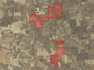Map of Hall's Redwater Ranches: 5197 acres NW of Richey