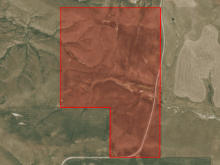Map of Hunting Property: 200 acres NE of Denton