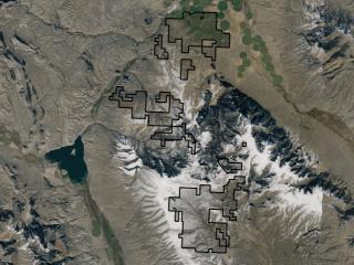 Map of La Cense Ranch: 24800 acres South of Dillon