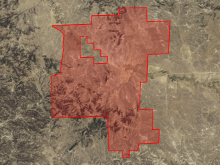 Map of O'Connor Ranch: 7231 acres NE of Mosby