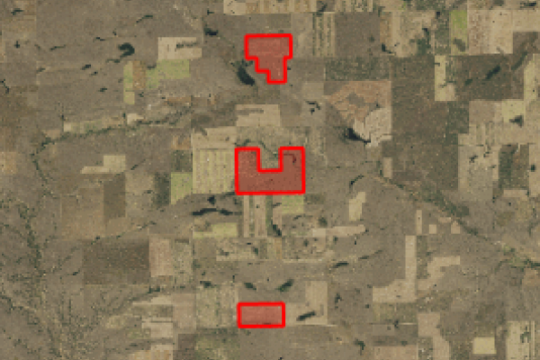 Map of 1,605 acres in Phillips County: 1605 acres North of Dodson