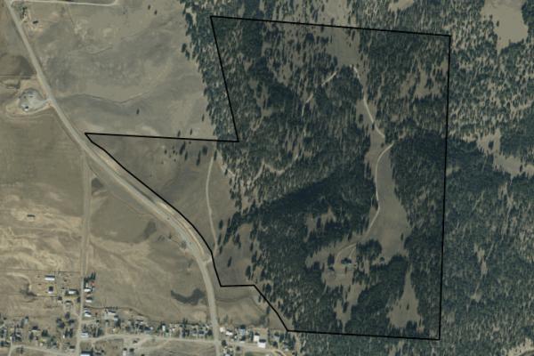 Map of 1184 Fat Horse Gulch Lane: 207.459 acres NE of Avon