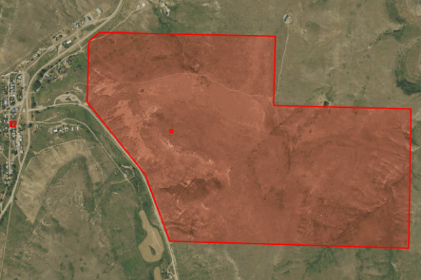 Map of 17 Cottonwood Coulee Road: 424.57 acres SE of Great Falls