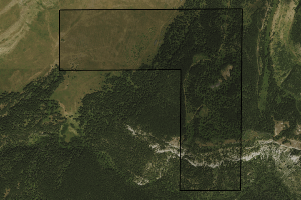 Map of 200 Acres: 200 acres SW of Lewistown