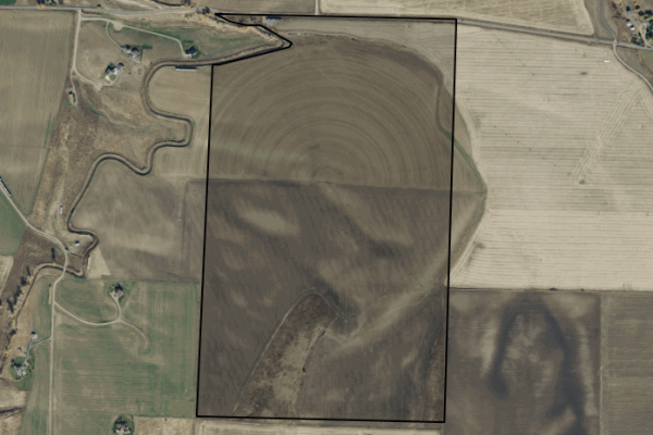 Map of 215 Acres on Blackwood Road: 215 acres SW of Bozeman