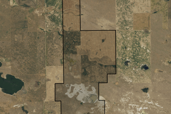 Map of 2196 acres in Phillips County: 2196 acres 10 miles West, Dodson
