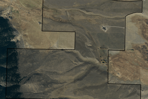 Map of 22 Ranch: 1362 acres West of McAllister