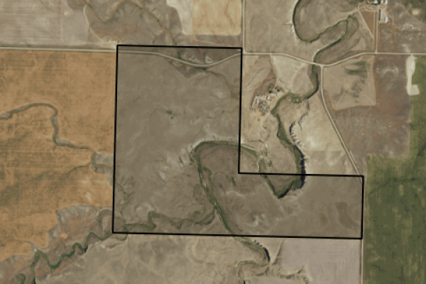 Map of 221 West Dugout Road: 320 acres East of Conrad