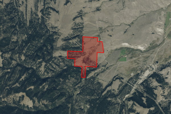 Map of 2261 Mullan Trail: 519 acres SW of Gold Creek