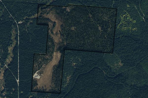 Map of 24 Vinal Lake Road: 314.84 acres SE of Yaak