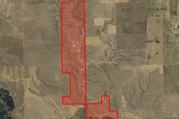 Map of 2N Ranch: 2587.8 acres North of Dodson