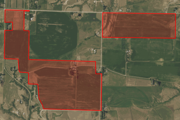 Map of 397 Acres in Cascade County: 397 acres NW of Vaughn