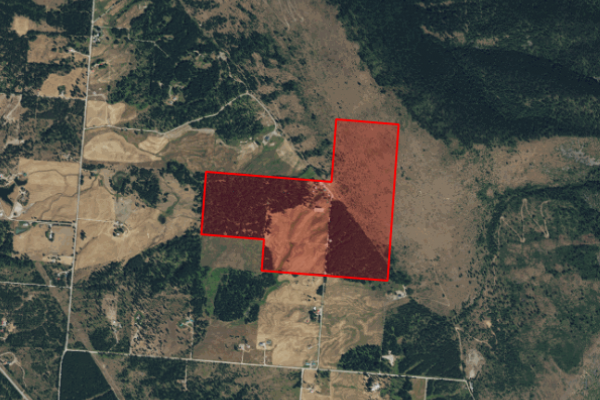 Map of 71 Dead End Road: 200 acres NW of Trout Creek