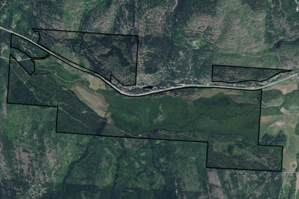 Map of Ashley Creek Ranch: 1156 acres SW of Kalispell