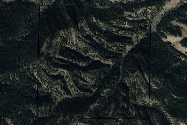 Map of Bangtail Mounain Ranch: 544 acres NE of Bozeman