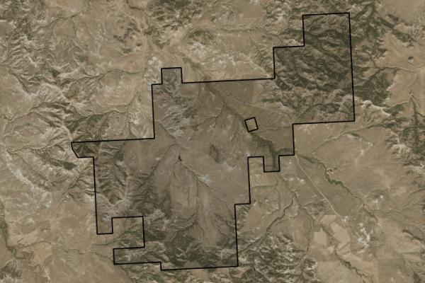 Map of Bay Horse Creek Ranch: 4367 acres SW of Broadus