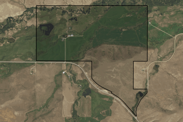 Map of Beartooth Front Ranch: 380 acres NW of Red Lodge