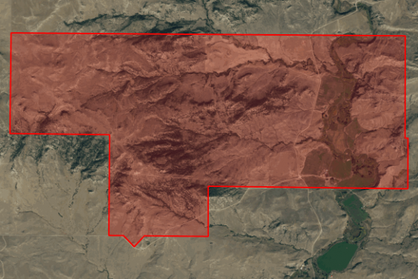 Map of Big Spring Ranch: 3192.36 acres NE of Big Timber