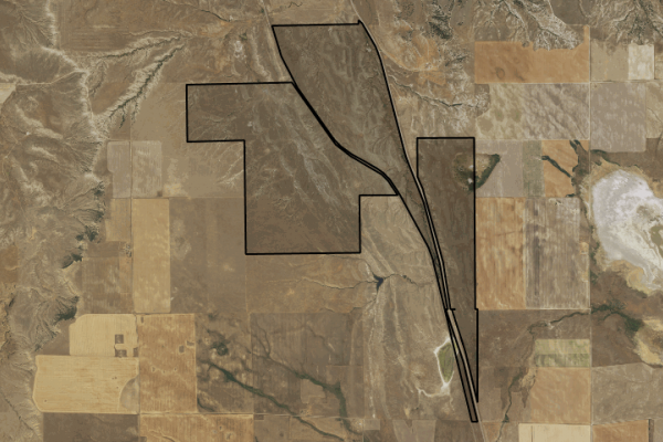Map of Broadview Grass Unit: 1733 acres South of Lavina