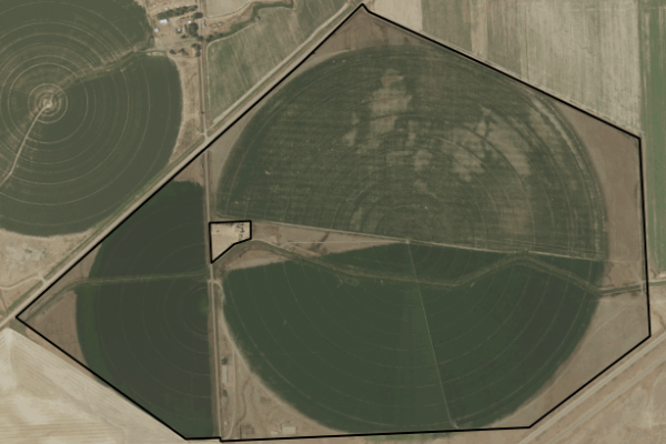 Map of Conns Coulee Farm: 347 acres SW of Terry