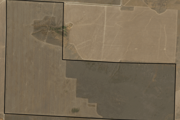 Map of Corner 4th Road: 640 acres South of Choteau