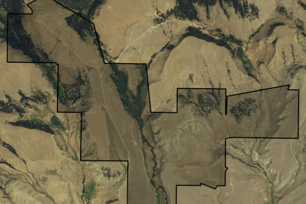 Map of Daisy Dean Creek Ranch: 1652 acres North of Martinsdale