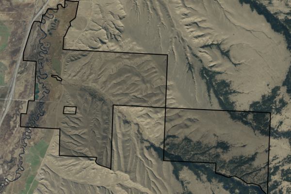 Map of Dry Cottonwood Creek Ranch: 3396 acres South of Deer Lodge