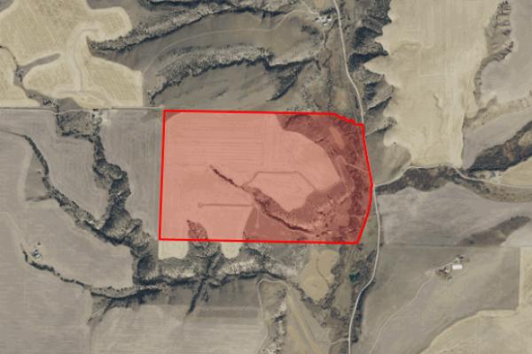 Map of Dry Creek Farm: 256 acres North of Belgrade