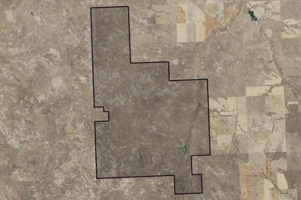 Map of East Montana Grass Ranch: 21991 acres NW of Miles City