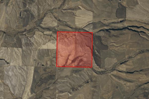 Map of Elk Creek Road: 616 acres NW of Wilsal