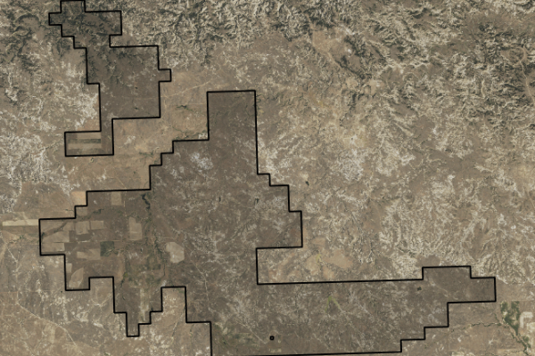 Map of Engdahl Ranch: 11250 acres North of Jordan