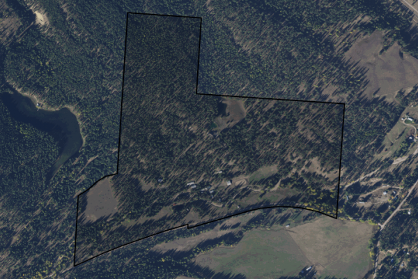 Map of Flying H Ranch: 255.14 acres NW of Superior