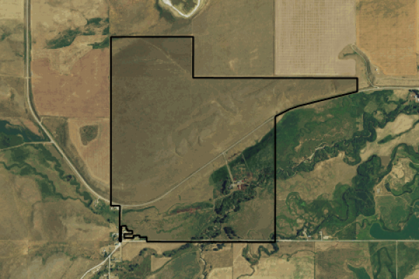 Map of Gem on the Judith River: 380.92 acres NE of Utica