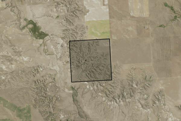 Map of Grazing/ Hunting Retreat: 320 acres SW of Glendive