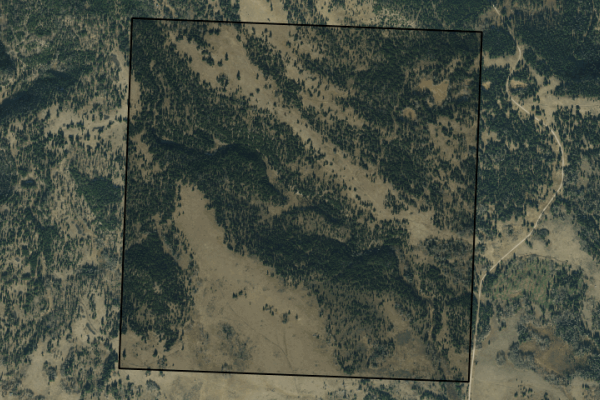 Map of Hardscrabble Creek Ranch: 640 acres NE of Lincoln