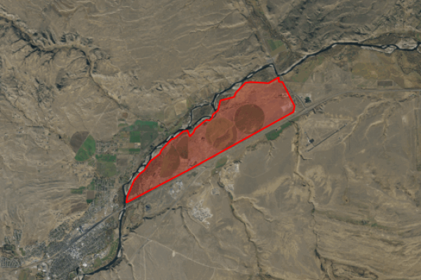 Map of Heart K Land & Cattle: 1976 acres West of Livingston