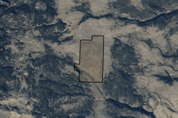 Map of Highland Mountain Ranch: 317 acres SW of Whitehall