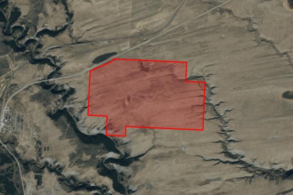 Map of Highway 2: 777 acres East of East Glacier Park Village