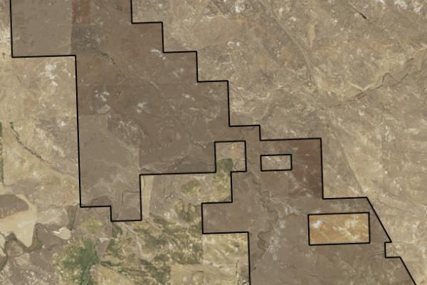 Map of Jordan Farm: 4333.76 acres South of Jordan