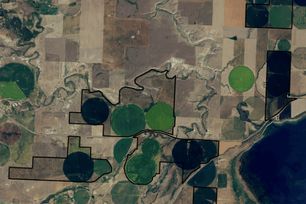 Map of Lake Francis Farm: 3669 acres West of Valier
