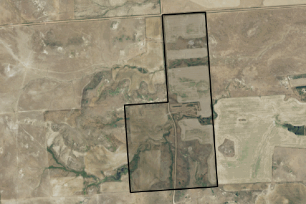 Map of Lamesteer Road: 240 acres South of Wibaux