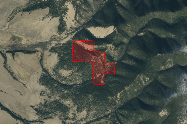 Map of Little Blackfoot Valley Ranch Property - 1/3 Interest: 316.6 acres North of Avon