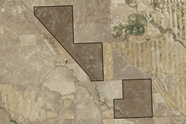 Map of Little Dry Creek Farm: 1437 acres North of Cohagen