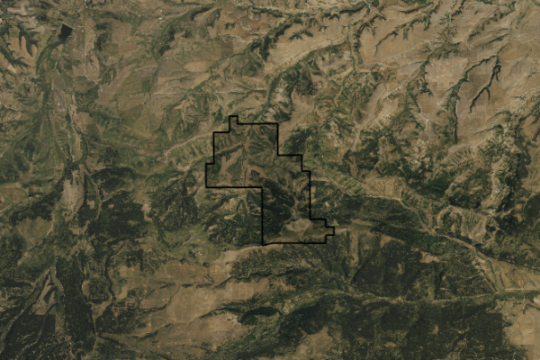 Map of Little Snowy Mountain Ranch: 5158 acres SE of Lewistown