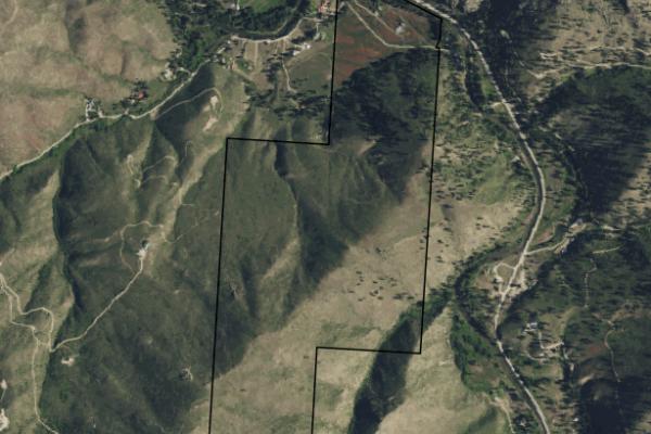 Map of Medicine Tree Ranch: 257.82 acres SE of Darby