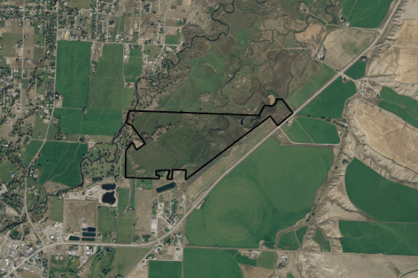 Map of Mussard Ranch on the Beaverhead River: 241 acres North of Dillon